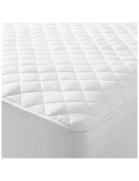 John Lewis & Partners Natural Cotton Quilted Mattress Protector by John Lewis & Partners