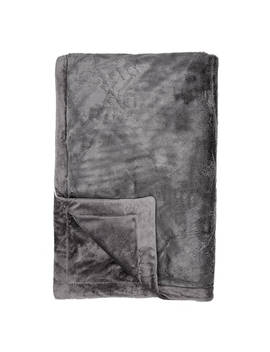 John Lewis & Partners Luxury Plush Fleece Throw, Mink by John Lewis & Partners