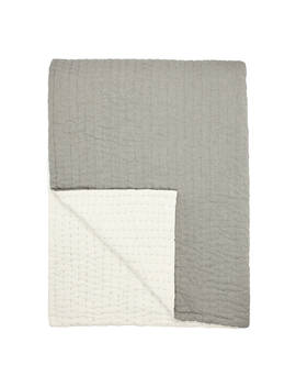 John Lewis & Partners Herringbone Stitch Bedspread, Grey by John Lewis & Partners