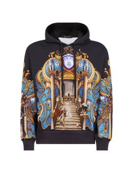 Black Cotton Knitwear & Sweatshirt by Versace