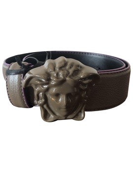 Leather Belt by Versace