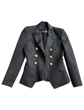 Black Viscose Jacket by Balmain