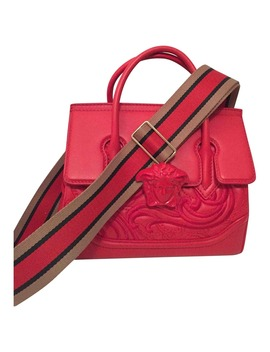 Leather Crossbody Bag by Versace