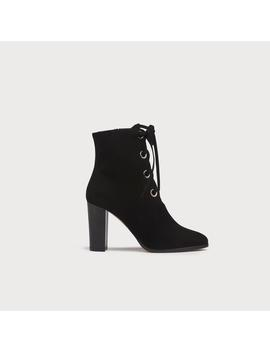 Marissa Black Suede Ankle Boots by L.K.Bennett