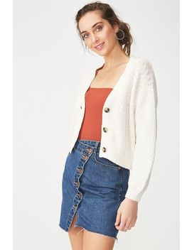 Cropped Button Up Cardi by Cotton On