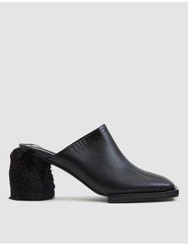 Square Toe Platform Mule In Black by Reike Nen