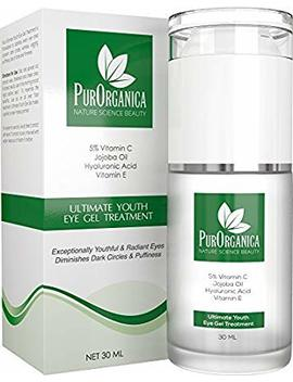 Pur Organica Eye Cream For Dark Circles, Puffiness, Eye Bags, Wrinkles And Crow's Feet – Doubleed 30 Ml   Organic Anti Ageing Cream With Vitamin C, Hyaluronic Acid, Jojoba Oil And Vitamin E   Best Natural Treatment For Women And Men   100 Percents Satisf... by Pur Organica
