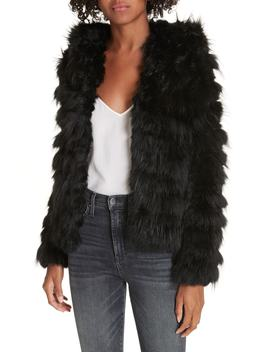 Nadia Genuine Rabbit & Fox Fur Jacket by Alice + Olivia