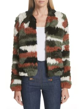 Iris Genuine Rabbit Fur Jacket by Ulla Johnson