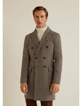 Sobretudo Tweed Lã by Mango