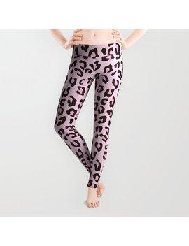 Leopard Print   Pink Chocolate Leggings by