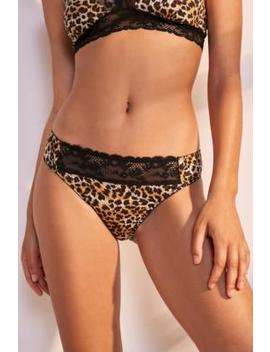 Uo Print + Lace Knickers by Urban Outfitters