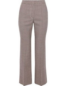Houndstooth Wool Kick Flare Pants by Stella Mc Cartney