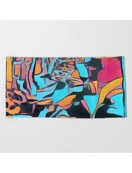 Spot The Leopard Beach Towel by