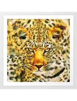 Great Leopard Head Art Print by