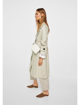 Belt Cotton Blend Trench by Mango