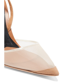 Alix Mesh And Suede Slingback Pumps by Alexander Wang