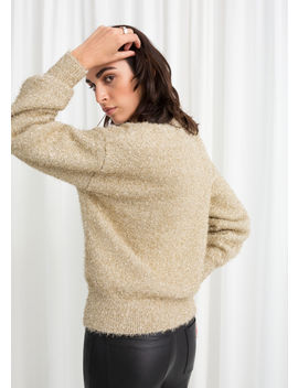 Fuzzy Metallic Sweater by & Other Stories