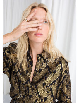 Metallic Jacquard Lounge Shirt by & Other Stories