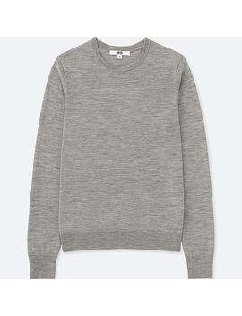 Damen 100 Percents Extra Feine Merinowolle Pullover (Rundhalsausschnitt) by Uniqlo