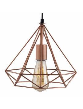 Homesake Copper Edison Filament Hanging Diamond Caged, E27 Holder by Homesake