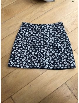 And Other Stories Navy And White Star Pattern Mini Skirt Size 12 by Ebay Seller