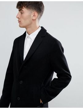 Esprit Smart Wool Overcoat In Black by Esprit