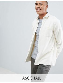 Asos Design Tall Overshirt In Ecru by Asos Design