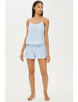 Textured Stripe Shorts by Topshop