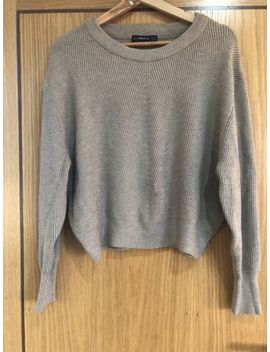 Zara Diagonal Knit Jumper Sweater by Ebay Seller