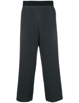 Homme Plissé Issey Miyakepleated Trousershome Men Homme Plissé Issey Miyake Clothing Cropped Trousers by Homme Plissé Issey Miyake