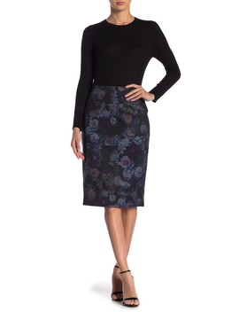 Printed Ponte Skirt by Carole Wren