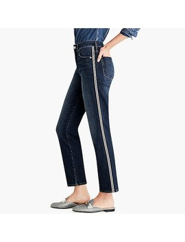 Vintage Straight Jean With Metallic Side Stripes by J.Crew