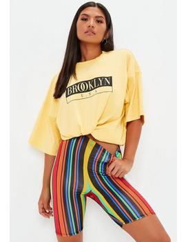 Rainbow Stripe Cycling Shorts by Missguided