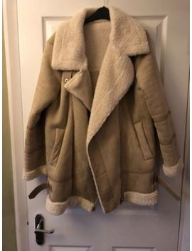 Brand New Without Tags Zara Shearling Aviator Jacket Size M by Ebay Seller