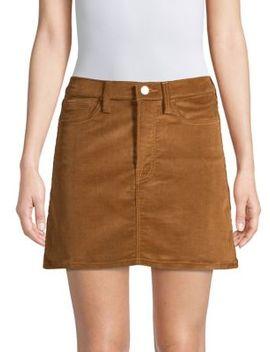 Corduroy Mini Skirt by Frame