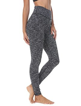 Queenie Ke Women's Hidden Pocket Yoga Leggings Pants Workout Running Peach Hip Not See Through by Queenie Ke