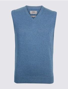 Pure Cotton Sleeveless Jumper by Marks & Spencer