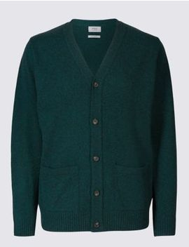 Pure Lambswool Cardigan by Marks & Spencer