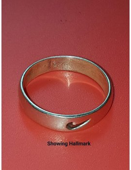 Solid Silver Hand Made Nike Large Ring Hallmarked 925 Stock Clearance One Size Only Left Now by Etsy