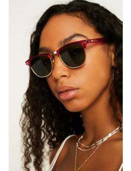 Hindsight Vintage Dawes Raspberry Sunglasses by Hindsight Vintage