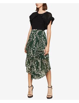 Stream Of Bloom Asymmetrical Skirt by Bcbgmaxazria