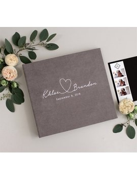 Grey Wedding Album With  White Lettering, Instax Picture Album, Personalized Photo Guest Book, Instax Wedding Book, Photo Boot Album by Etsy
