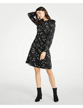 Floral Ruffle Flare Dress by Ann Taylor