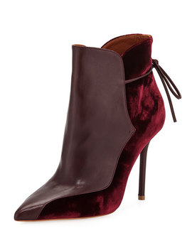 Jordan Mixed Media Booties, Burgundy by Malone Souliers