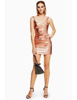 Pu Ruched Side Mini Dress by Topshop
