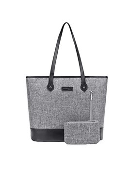 Utote Bag Women 15.6 Inch Laptop Tote Bag Notebook Shoulder Bag Lightweight Multi Pocket Nylon Business Work Office Briefcase For Computer/Mac Book / Ultrabook (Grey) by Utote Bag