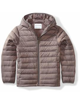 Amazon Essentials Boys' Lightweight Water Resistant Packable Hooded Puffer Jacket by Amazon+Essentials