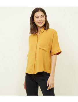 Yellow Boxy Fit Front Pocket Shirt by New Look