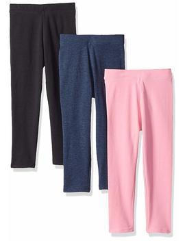 Amazon Essentials Girls' 3 Pack Leggings by Amazon+Essentials